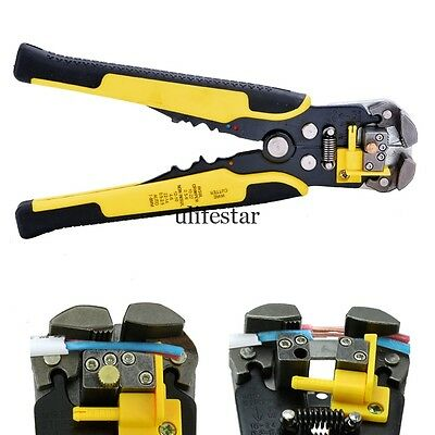 Adjustable Automatic Wire Striper Cutter Stripper Crimper Pliers Terminal Tool L
