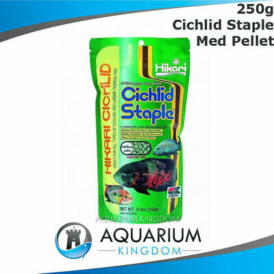 Hikari Cichlid Staple 250g MEDIUM Size Pellet 5mm Floating Tropical Fish Food