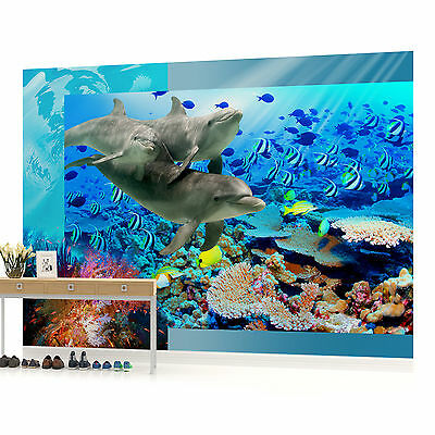 WALL MURAL PHOTO WALLPAPER PICTURE (072PP) Dolphin Bedroom Boys Girls Children