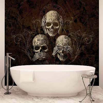 WALL MURAL PHOTO WALLPAPER PICTURE (978P) Skull Heavy Metal Abstract