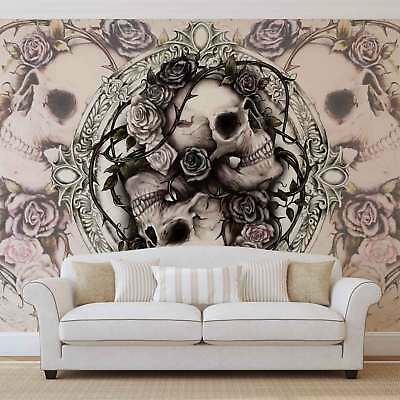 WALL MURAL PHOTO WALLPAPER PICTURE (977P) Skull Heavy Metal Abstract