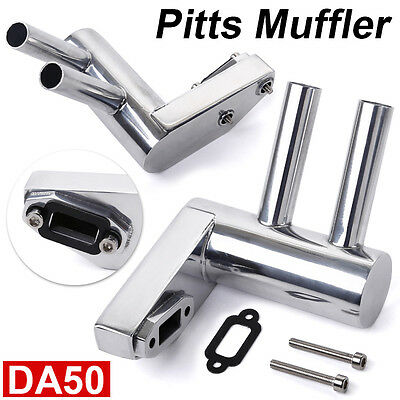 New version Exhaust Pitts Muffler Silencer Pipe for DA50/DLE55/GP50R in UK