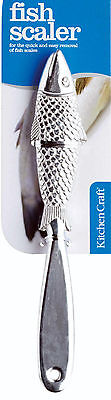 New Kitchen Craft Strong Aluminium 22.5cm Fish Scaler (Descaler / Scale Remover)