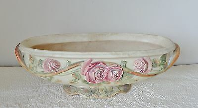 """1914 - 1920  EARLY 16"""" WELLER POTTERY ROMA PATTERN CREAMWARE PLANTER"""