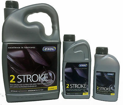 Exol 2 Stroke 2T Engine Oil for use in Mopeds Motorcycles Chainsaws Lawn Mowers