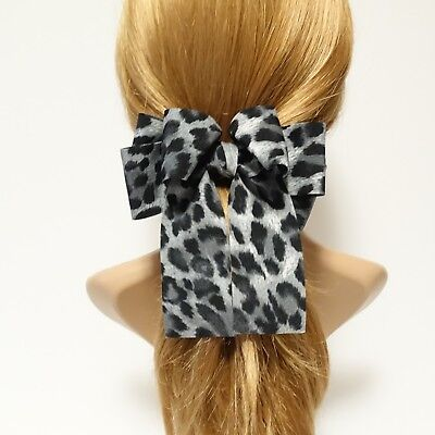 Handmade Hair Accessories Animal Print Leopard Bow Clip French Barrettes