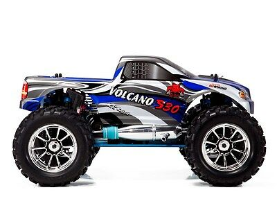 Nitro Gas RC Redcat Racing Volcano S30 4WD Truck 3.0cc with Starter Kit Blue