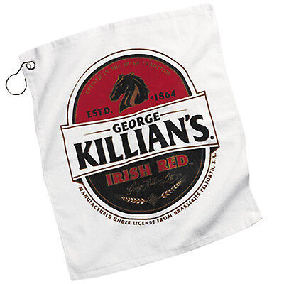 "GEORGE KILLIANS Beer Bar Golf Fishing Hand COTTON WHITE Towel 15""X18"" NEW"