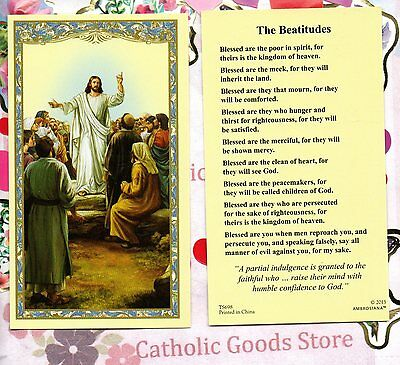 The Beatitudes - Paperstock Holy Card