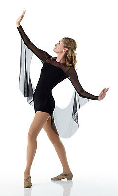 Contemporary INFINITY Ballet Dance Costume w/ Drapes Acro Biketard Child & Adult