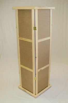 """Pegboard Cube Display, Revolves- 58""""T, top/base Hinged-Folds Flat -New"""
