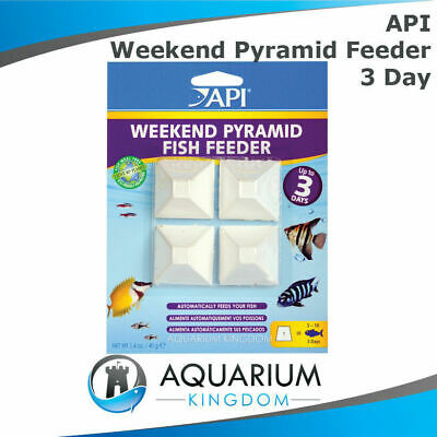 API 3 Day Pyramid Fish Feeder 4 Pk Automatic Weekend Holiday Aquarium Food Block