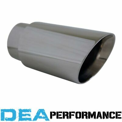 Dea Stainless Steel- Double Walled Angle Cut Exhaust Tip 2.5'' Inlet