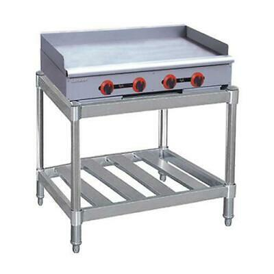 Gas Griddle / Hotplate, 4 Burner with Stand, Commercial Restaurant Equipment NEW