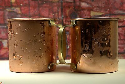 2 x MOSCOW MULE PURE COPPER CUP BAR BEER MUG !! SET OF 2 !!