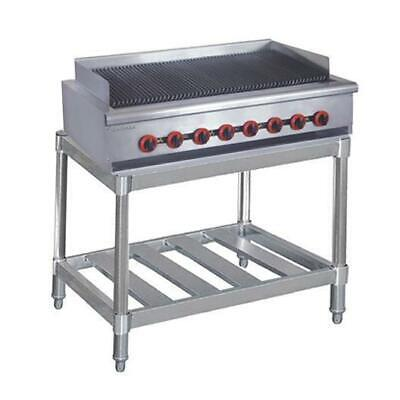 Gas Char Grill 8 Burner on Stand, Chargrill Commercial Restaurant Equipment NEW