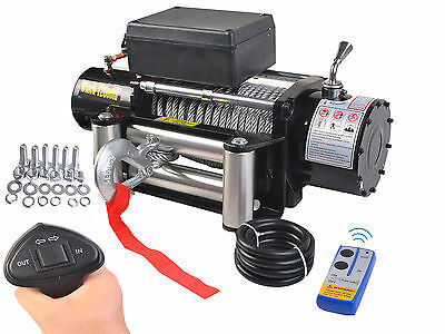Classic 12000lbs 12V Electric Recovery Winch Truck SUV Trailer Wireless Remote