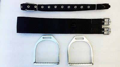 Childrens Saddle mounts, stirups ,straps and girth
