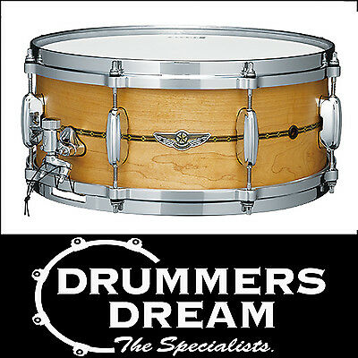 """Tama Star Solid Shell Snare Drum 14"""" x 6"""" Oiled Natural Maple MADE IN JAPAN! NEW"""