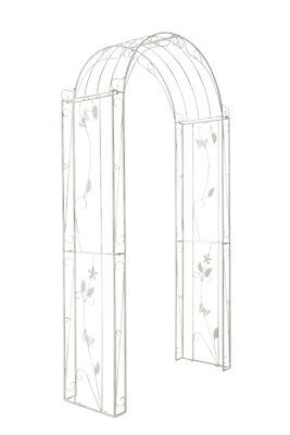 rankgitter lavendel antik weiss neu metall rankhilfe pergola spaliere. Black Bedroom Furniture Sets. Home Design Ideas
