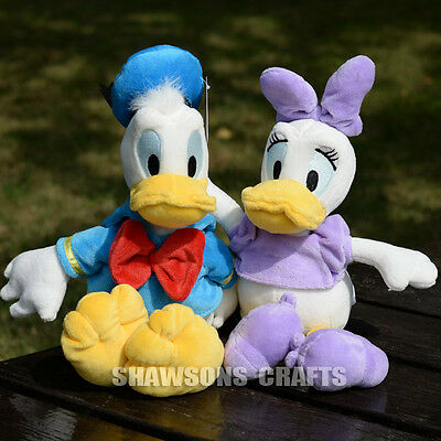 """Disney Mickey Mouse Clubhouse Plush Toys 13"""" Donald & Daisy Duck Pair Soft Doll"""