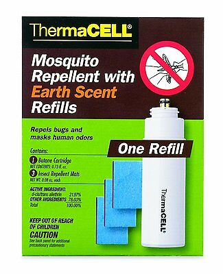 Thermacell Mosquito Repellent Refill E1 with Earth Scent 12 hours