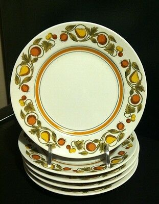 Vintage Franciscan Whitestone ware Pickwick Intenpace 5 bread and butter plates