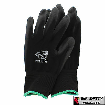 Global Glove Pug Polyurethane Coated Nylon Work Gloves 12 Pair Medium (Pug17-M)