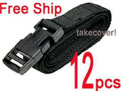 """12x BOAT ATV COVER TIE DOWN STRAP KIT 1"""" x 12'  w/ Female & Male ends / buckles"""