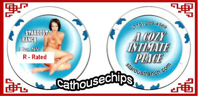 Stardust Ranch Ely NV  ** Cathouse ** R - RATED Series  Brothel Chip  ~ BLUE ~