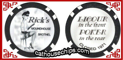 RICK'S MOUND HOUSE  Nevada Brothel Collectors Chip CATHOUSE - Whorehouse