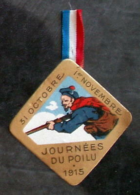 """FRENCH WW1 CARD JOURNEE """"MARINE IN ACTION"""", 1915, VG cond"""