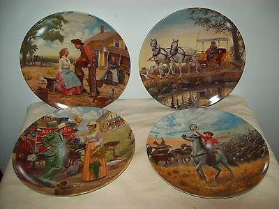 Knowles Oklahoma Series Numbered Kunstler Rogers Hammerstien Plates Lot of 4
