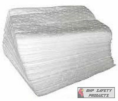 "OIL ABSORBENT PADS 17"" X 15"" 100 PADS PER CASE ( ABSORBS ALL HYDROCARBONS )"