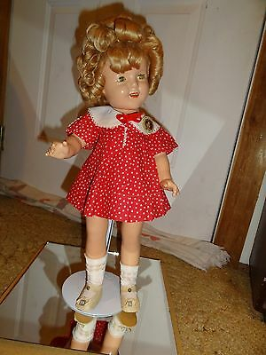 """VINTAGE 1930's IDEAL COMPOSITION SHIRLEY TEMPLE DOLL 18"""""""