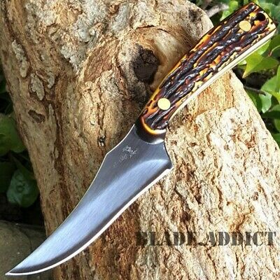 "7"" TACTICAL SURVIVAL Skinning Wood KNIFE Hunting Skinner Camping Fixed Blade NEW"