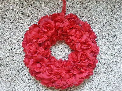 RED ROSES VALENTINE'S DAY SPRING SUMMER WREATH TABLE TOP DECORATION HOLIDAY