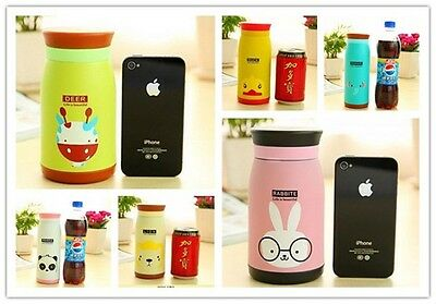 1pc Stainless Steel Vacuum Cup Thermos Mug For Kid Travel Gift Novelty Travel