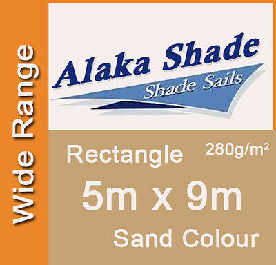 Extra Heavy Duty Shade Sail Sand Rectangle 5x9m, 5m x 9m, 5 by 9m, 5 x 9m 5mx9m