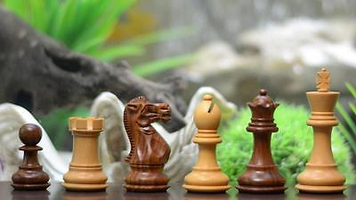The Classic Series Wooden Weighted Economy Chess Pieces Shesham & Box Wood - 2.8