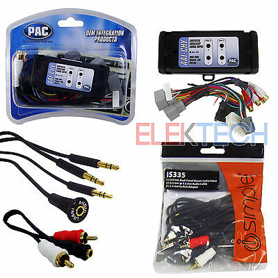 PAC AAI-CHY Auxiliary Input Adapter Interface & IS335 Aux/RCA Cable Extender