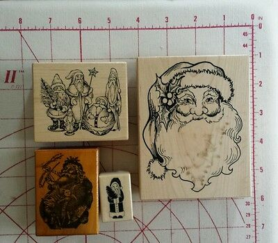 PSX K292, G1825, B380, and no number Wooden mounted Christmas Stamps