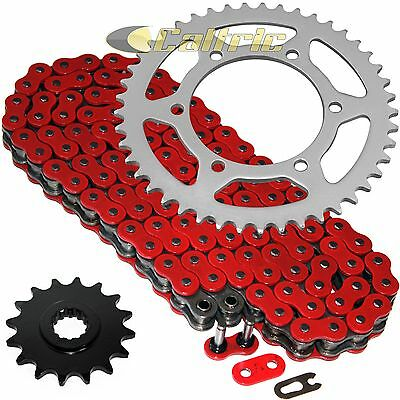Red O-Ring Drive Chain & Sprockets Kit Fits YAMAHA R6 YZF-R6 2006-2016
