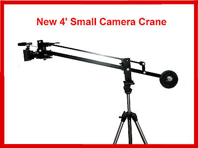 4 Ft Small Camera Crane Jib, for DSLR's Film Video, Free bracket for monitor