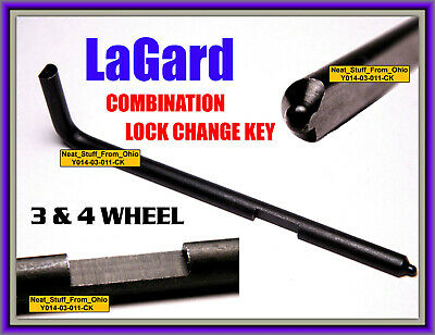 La Gard / Lagard Change Key (For 3 & 4 Wheel Combination Locks) Lg1307 & Lg1315