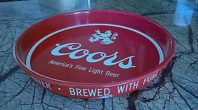 Vintage Coors and Schlitz Serving Trays