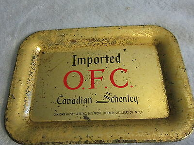 VINTAGE Imported O.F.C. Canadian Schenley Tip Tray