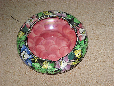 MALING FLORAL LUSTRE ASHTRAY NO MPN DECORATIVE AND PRACTICAL