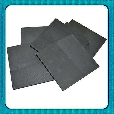 5pcs 99.99% Pure Graphite Electrode Rectangle Plate Sheet 50*40*3mm
