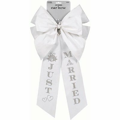 Big Just Married Car Bow 26in x 13in / 1 PC / WEDDING (A248891)